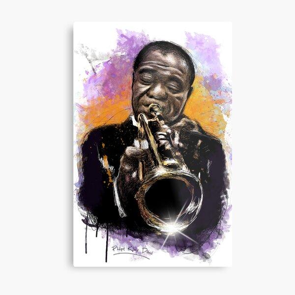 Louis Armstrong Tribute Metal Print