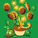 Sunflowers vs zombies by Harzack