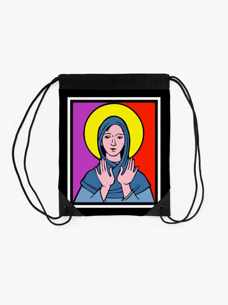 Alternate view of THE VIRGIN MARY Drawstring Bag