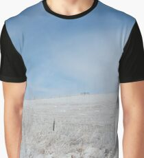 Snowy Pasture Photography Print  Graphic T-Shirt