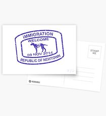 Republic of Newtown - 2014: Blue Postcards