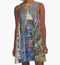 Fifth Avenue by RD RIccoboni Empire State Building, New York City Picture A-Line Dress