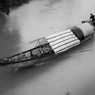 Sampan Hue Vietnam by Andrew  Makowiecki