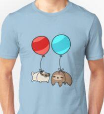 Balloon Sloth and Pug Unisex T-Shirt