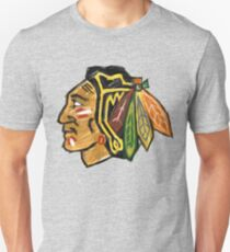 Chicago Blackhawks Paint Unisex T-Shirt