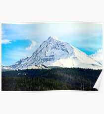 Snow covered hills Poster