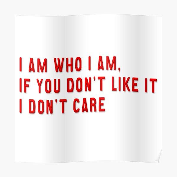 Je suis qui je suis _HTGAWM Citation Poster