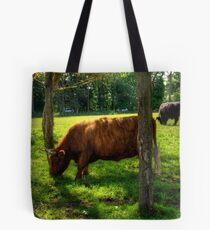 The grass is greener under the trees Tote Bag