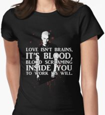BLOOD; SPIKE (WITH TEXT) Women's Fitted T-Shirt