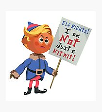 Hermey the Elf Protesting Elf Rights Photographic Print
