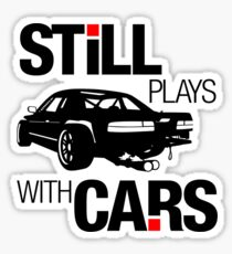 Still plays with cars (1) Sticker