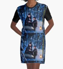 The Queen and her Prince Graphic T-Shirt Dress