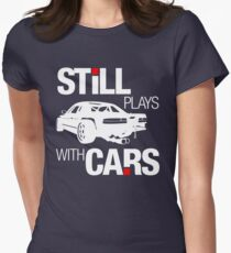Still plays with cars (2) Women's Fitted T-Shirt