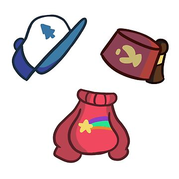 Dipper Mabel and Stan set by Jackie-Designs