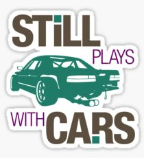 Still plays with cars (3) Sticker