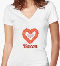 I'm In a Committed Relationship with Bacon Women's Fitted V-Neck T-Shirt
