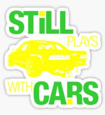 Still plays with cars (5) Sticker