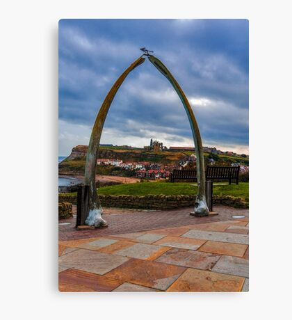 Whitby Whale Bones Canvas Print