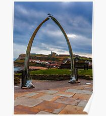 Whitby Whale Bones Poster