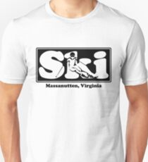 Massanutten, Virginia  SKI Graphic for Skiing your favorite mountain, city or resort town Unisex T-Shirt