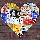 Heart of America Recycled License Plate Art by designturnpike