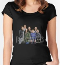 with the freaks and geeks  Women's Fitted Scoop T-Shirt