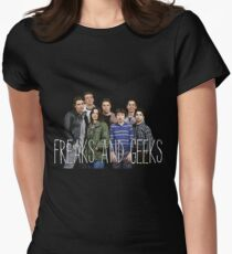 with the freaks and geeks  Womens Fitted T-Shirt