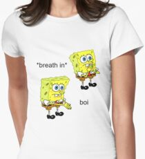 Spongebob Boi Women's Fitted T-Shirt