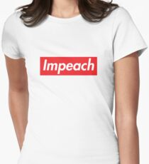 Impeach Supreme Women's Fitted T-Shirt