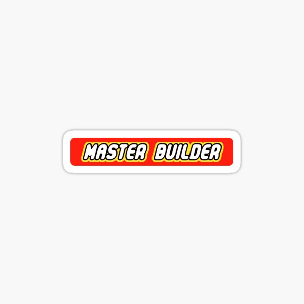 Master Builder Graphic for Expert Builders Pegatina