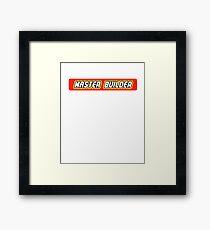 Master Builder Graphic for Expert Builders Framed Print