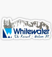 Whitewater Ski Resort Hill Nelson British Columbia Vintage Sticker