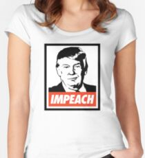 Impeach Trump  Women's Fitted Scoop T-Shirt