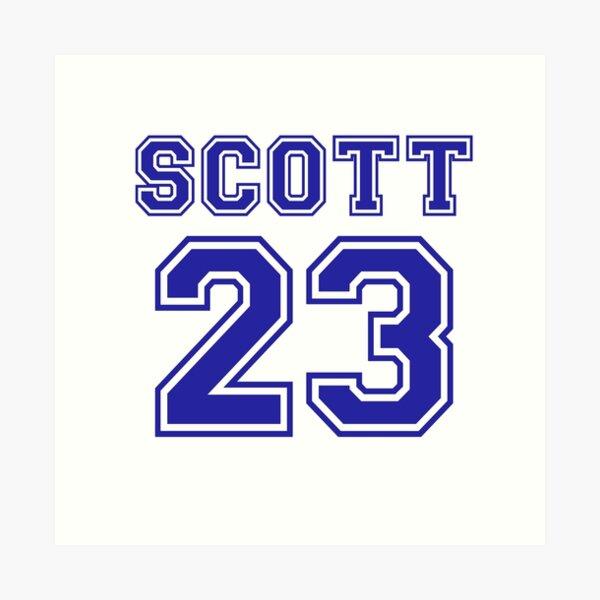 scott 23 one tree hill ravens jersey Art Print by lunalovebad