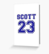 scott 23 one tree hill ravens jersey Greeting Card