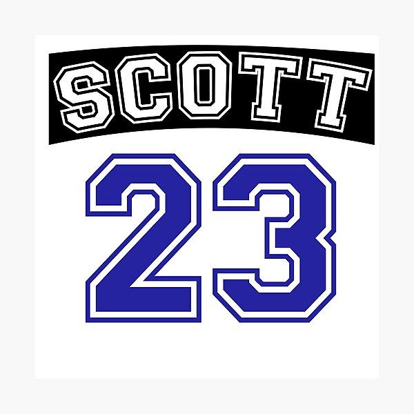scott 23 one tree hill ravens jersey v2 Photographic Print by lunalovebad