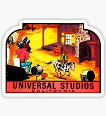 Universal Studios California Vintage Travel Decal Sticker