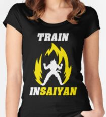 Train Insaiyan Women's Fitted Scoop T-Shirt