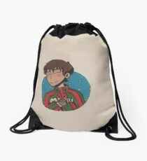 christmas lance Drawstring Bag