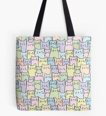 Silent Cats Pastel Tote Bag