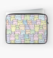 Silent Cats Pastel Laptop Sleeve