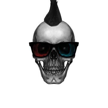 Hipters skull 3D glasses by ElaRRecho