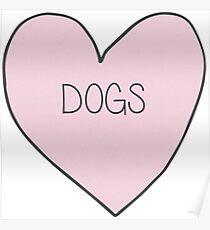 Dog Heart Sticker Poster