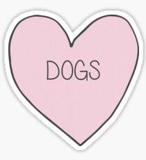 Hund Herz Aufkleber Sticker