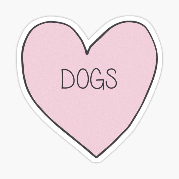 Dog Heart Sticker Sticker