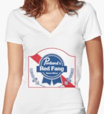 Red Fang - PBR Women's Fitted V-Neck T-Shirt