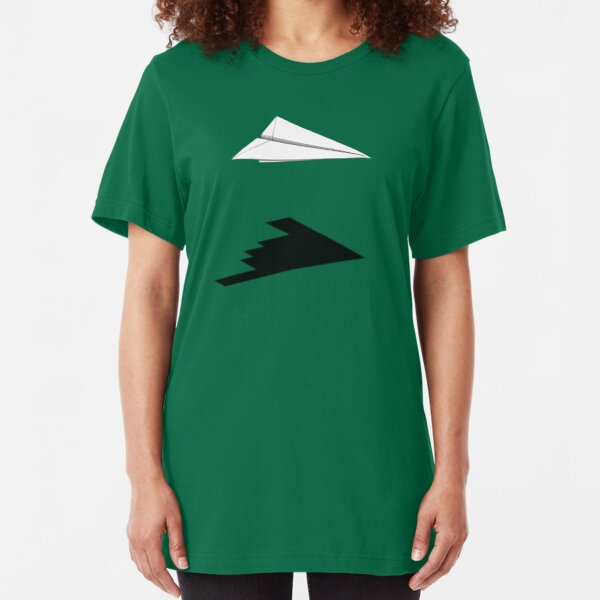 A flight of imagination (B-2 Spirit) Slim Fit T-Shirt