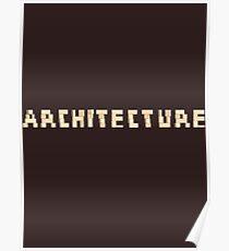 Architecture Blocks Architecture T-shirt Poster