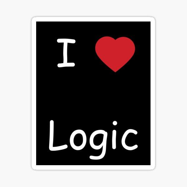 I love logic - noire Sticker
