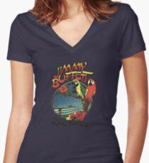 jimmy buffet tour 2016-2017 Women's Fitted V-Neck T-Shirt
